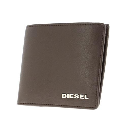 ディーゼル DIESEL 二つ折り短財布 メンズ X03149-PS777-T2184 ブラウン