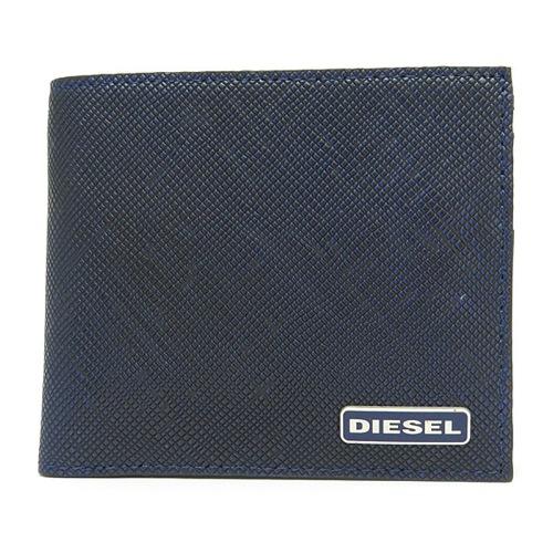 ディーゼル DIESEL メンズ 二つ折り短財布 X03344-P0517-H5853 ブルー