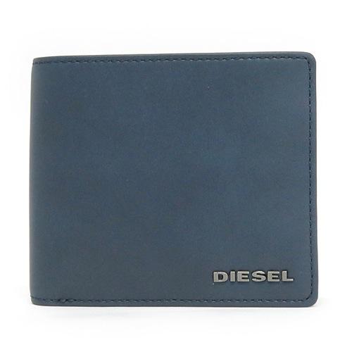 ディーゼル DIESEL メンズ 二つ折り短財布 X03363-PR478-H5057 ブルー