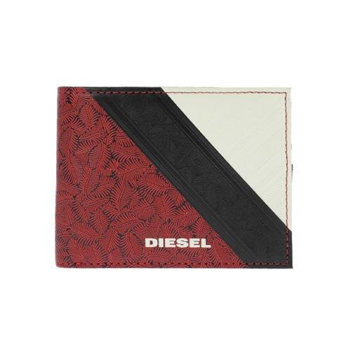 729d3509612a 【送料無料】ディーゼル DIESEL メンズ 二つ折り短財布 X03371-P0408-H4072 レッド
