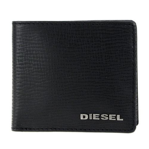ディーゼル DIESEL メンズ 二つ折り短財布 X03456-P0685-T8013 ブラック