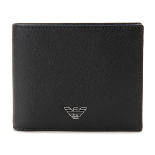 エンポリオ アルマーニ メンズ 二つ折り財布 短財布 YEM122-YAQ2E-81072 ブラック
