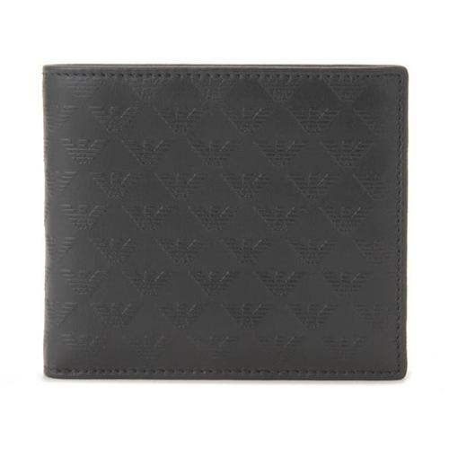 エンポリオ アルマーニ メンズ 二つ折り財布 短財布 YEM122 YC043 80001 ブラック
