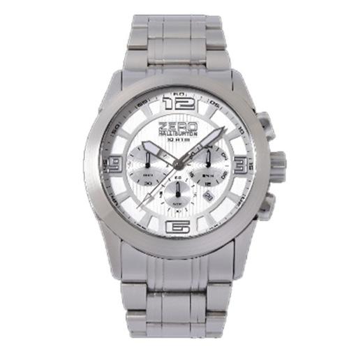 ゼロハリバートン クロノ デイト クオーツ メンズ 腕時計 ZW001S-04 シルバー