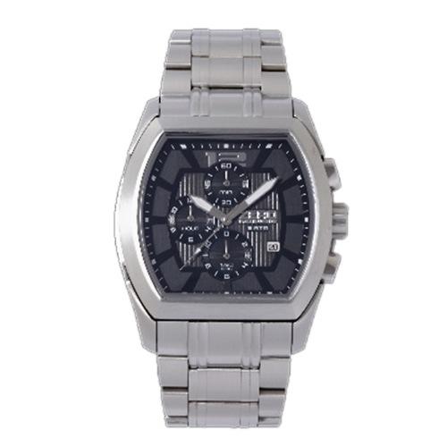 ゼロハリバートン クロノ デイト クオーツ メンズ 腕時計 ZW002S-02 ブラック