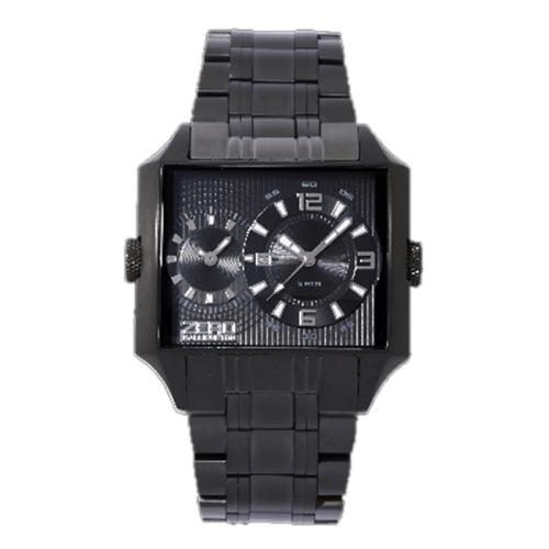 ゼロハリバートン デイト クオーツ メンズ 腕時計 ZW004B-02 ブラック