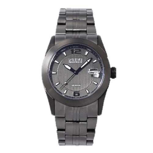 ゼロハリバートン デイト クオーツ メンズ 腕時計 ZW005U-61 ガンメタ